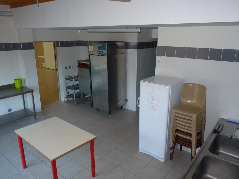 Salle du Vallon, cuisine